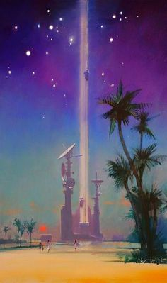 John Harris - An interior illustration from The Last Theorem [The Invasion of the Canoes] by Arthur C. Clarke, 2008