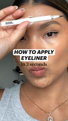 Eyeliner Looks, How To Apply Eyeliner, Gel Eyeliner, Winged Eyeliner, Tips For Eyeliner, Eyeshadow Makeup, Best Eyebrow Makeup, Soft Eye Makeup, Korean Eye Makeup