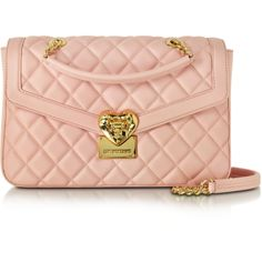 543c52d70b5c4 Love Moschino Handbags Heart Quilted Eco Leather Shoulder Bag (17.300 RUB)  ❤ liked on