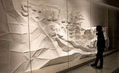 "Geometric paper structure. ""Still Life Comes Alive"" by Brian Li"