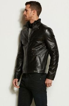 Zip Front Leather JacketOnline Exclusive - Jackets & Blazers - Mens - Armani  Exchange