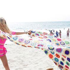 Granny square zomer kleed, haakpakket: garen + het patroon #haken #crochet
