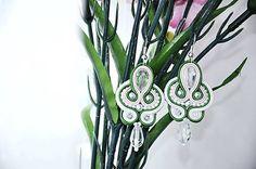 Cukorpalantak / Romantické, zeleno-bielo-púdrové soutache