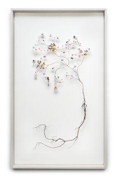 Flower construction #26 (w:60 h:100 d:6.5 cm)  Anne Ten Donkelaar 3d Collage, Flower Frame, Botanical Art, Paper Flowers, Dried Flowers, Pressed Flower Art, Plant Art, Plants Are Friends, Flower Pictures