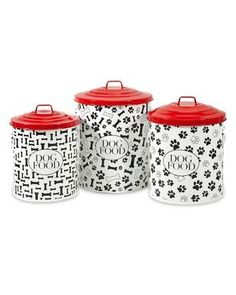 Dog Food Storage Canisters #holidaygifts #pets #forthefamily #century21stores