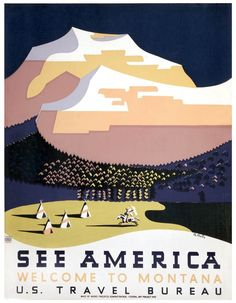 A poster created through the Works Progress Administration Federal Art Project in the late 1930s to promote tourism. From the Library of Congress.