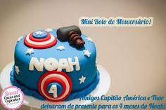 Sweet Cucas and Cupcakes by Rosângela Rolim: Mini Bolo de Mesversário!!!