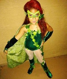 DIY Kids Poison Ivy Halloween Costume  sc 1 st  Pinterest & DIY Poison Ivy Costume.......this is what Jalen want to be for ...