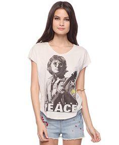 Imagine Peace John Lennon Tee FOREVER 21
