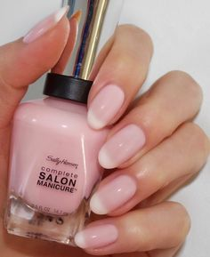 New Sally Hansen Salon Manicure Sally Hansen plete Salon Lakier 182 Blush Again Waga z opakowaniem 0 08 kg - Blush Nails, Pink Chrome Nails, Chrome Nail Polish, Essie Nail Polish, Sheer Nail Polish, Gold Chrome, Cute Nail Colors, Cute Pink Nails, Opi Nail Colors