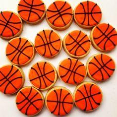 Basketball cookies Petit Four Brasil.