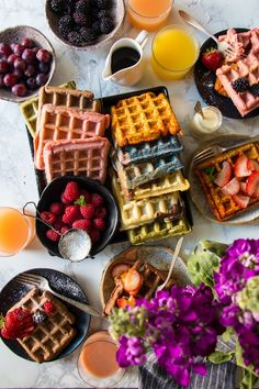 Fruity Belgian Waffles/ Natural flavored Waffles/Belgian Waffles |foodfashionparty|