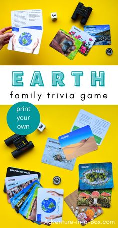 Use Earth trivia questions and learn more about our amazing planet, while playing this printable educational game for kids! Learning Games For Kids, Creative Activities For Kids, Creative Arts And Crafts, Educational Games For Kids, Fun Crafts For Kids, Creative Kids, Math Activities, Trivia Questions For Kids, This Or That Questions
