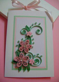 Birthday pink flowers card