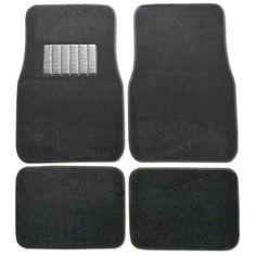 Premium-Carpet-Black-Mats-For-Car-Set-of-4-New-Free-Shipping