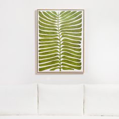 Sale ends soon. Detailed yet imaginative, Marianne Hendricks' up-close examination of a single fern frond reveals nature's inner rhythms and playful asymmetry. Diy Wall Art, Diy Art, Wall Decor, Wall Prints, Canvas Prints, New Wall, Fern Frond, Crate And Barrel, Art Inspo