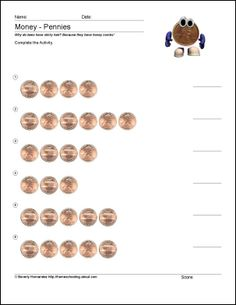 Worksheet Aaa Math Worksheets coins the ojays and count on pinterest free math worksheets for counting pennies