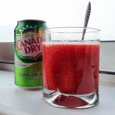 Libra Loves: Strawberry Gingerale. Use frozen strawberries.
