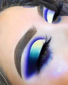 21 Stunning Makeup Looks for Green Eyes Sexy Eye Makeup, Hazel Eye Makeup, Purple Eye Makeup, Creative Eye Makeup, Colorful Eye Makeup, Eye Makeup Art, Crazy Makeup, Smokey Eye Makeup, Makeup Geek