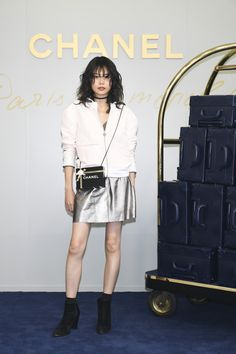 Model Nairu Yamamoto attends the CHANEL Metiers D'art Collection Paris Cosmopolite show at the Tsunamachi Mitsui Club on May 31, 2017 in Tokyo, Japan.