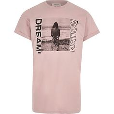Pink 'dream nation' photograph print T-shirt £15.00