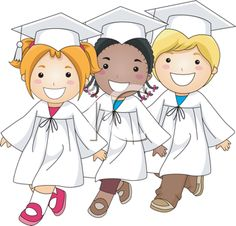 iCLIPART - Illustration of Kids Doing the Graduation March