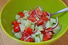 Cucumber, Tomato, Onion, Feta Salad