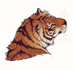 A little fluffy rat . Animal Sketches, Animal Drawings, Cool Drawings, Art Sketches, Big Cats Art, Furry Art, Cat Art, Tiger Art, Tiger Tiger