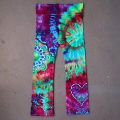 Tie Dye Yoga Pants  2XL Yoga Pants Workout by ChromaticKiddos