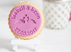 Schwäne - Personalisierter Keksstempel - Fondantstempel - Cookiestamp- für die Hochzeit - Wedding von DeinKeksstempel auf Etsy