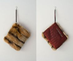 1940s handbag / sable fur 40s muff handbag / Sable by DearGolden, $115.00