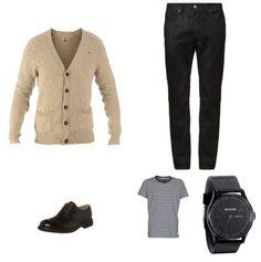 Ryan Gosling Outfit - #RyanGosling #Suit #PierOne #TommyHilfiger #Clarks #Nixon - Clooy.nl