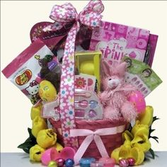 Ourdeal easter hamper including three bottles of wolf blass wine egg streme glamour girl easter gift basket for girls ages 6 to 9 years negle Gallery