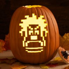 "Wreck-It Ralph Pumpkin Carving Template! Thanks for joining our ""Pin a Pumpkin"" Party!"