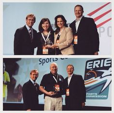 Taking this #WayBackWednesday to last year's NASC Symposium, where Erie Sports Commission (budget under $200,000) and Harris County-Houston Sports Authority (budget $200,000 and above) were #NASCAwardWinners! Both took home Sports Commissions of Year awards! Congratulations! #SportsBiz #SportsTourism