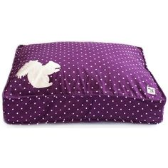 A purple dog bed!!!!