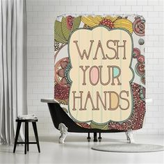 Valentina Ramos - Wash your hands, Shower Curtain, 180x180
