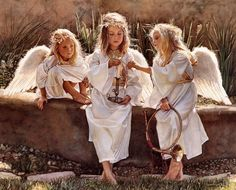 Masterpeices of Artist Steve Hank ( master of watercolor ) - american artist - Art And Beauty Watercolor Artists, Watercolor Paintings, Watercolors, I Believe In Angels, Candle In The Wind, Angels Among Us, Guardian Angels, Angel Art, Artist At Work