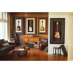 Love these framed guitars! I need a Michael's gift card to do some custom framing.