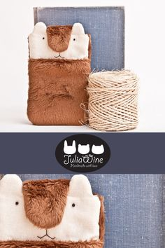Fluffy iPhone Case Smartphone sleeve Fabric by JuliaCuteCases