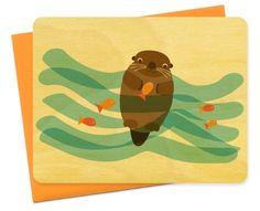 Mr. Water Otter - Birch Greeting Card