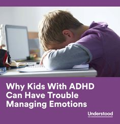Many kids with ADHD have a symptom that's not often talked about: trouble managing emotions. Learn why children with ADHD struggle to control emotions and how t Adhd Odd, Adhd And Autism, Infp, Adhd Signs, Adhd Help, Adhd Diet, Adhd Strategies, Adhd Symptoms, Trouble