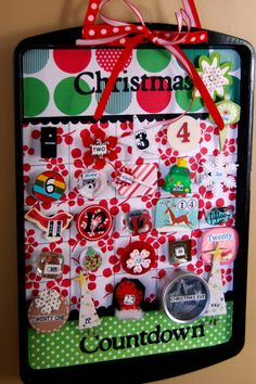 Love this advent calendar!  All the numbers have magnets on the back so you can store them on the back of the sheet until the appropriate day...
