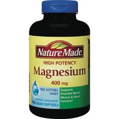about Nature Made High Potency Magnesium 400 mg 180 Liquid Softgels FAST Nature Made High Potency Magnesium 400 Mg 150 Liquid Softgels Exp Or LaterNature Made High Potency Magnesium 400 Mg 150 Liquid Softgels Exp Or Later Health And Wellness, Health And Beauty, Health Fitness, Health Care, Get Healthy, Healthy Tips, Natural Teeth Whitening, Alternative Health, Dental Health