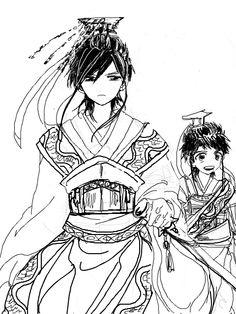 Ren Hakuyuu and Hakuren - Magi: The Labyrinth of Magic