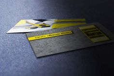 Business card template construction company