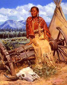 Buffalo Woman (Unknown artist)