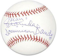 Juan Marichal Autographed Baseball with Dominican Dandy Inscription, Multi Baseball League, Sports Baseball, Sparky Anderson, Yasiel Puig, Mlb Giants, Baseball Signs, Rawlings Baseball, Anniversary Logo