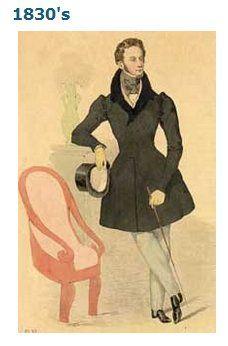 1820-50 Men's Fashion suzilove.com