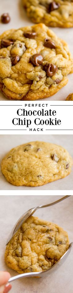 30 Minute Chewy Chocolate Chip Cookies from The Food Charlatan. This recipe gets you from zero to chewy cookies in less than 30 minutes with normal ingredients. They are soft in the middle, perfectly crisp on the edge, and have an ultra chewy center. Best Cookie Recipes, Best Dessert Recipes, Brownie Recipes, Chocolate Recipes, Baking Recipes, Bar Recipes, Family Recipes, Recipies, Easy No Bake Desserts